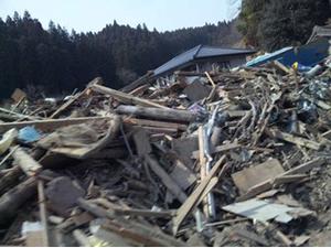 津波で壊滅的な被害を受けた南三陸町