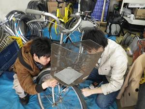 鶴岡市山王商店街に開設した「まちなか基地」(2011年11月~2012年9月開設)