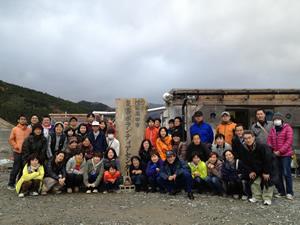 陸前高田市災害ボランティアセンターにて(2012年11月18日)
