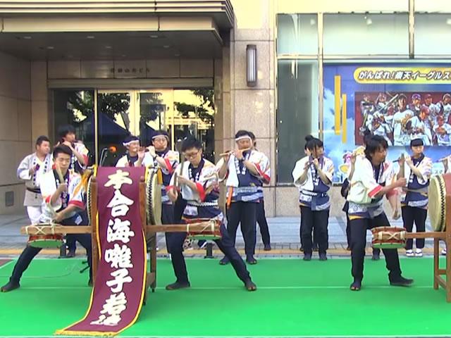 新庄まつりの山車行事うち祭り囃子(本合海囃子若連)